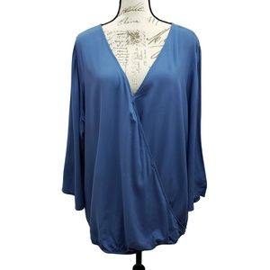 Faded Glory Plus Size Faux Wrap Top 3X 22/24 NWT